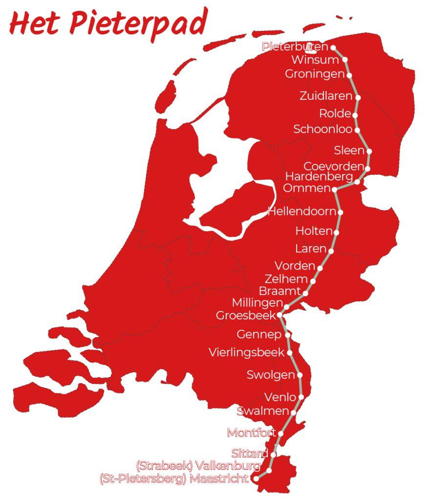 Pieterpad wandelen met bagagevervoer van hotel naar hotel - Fietswandelvakantie.nl